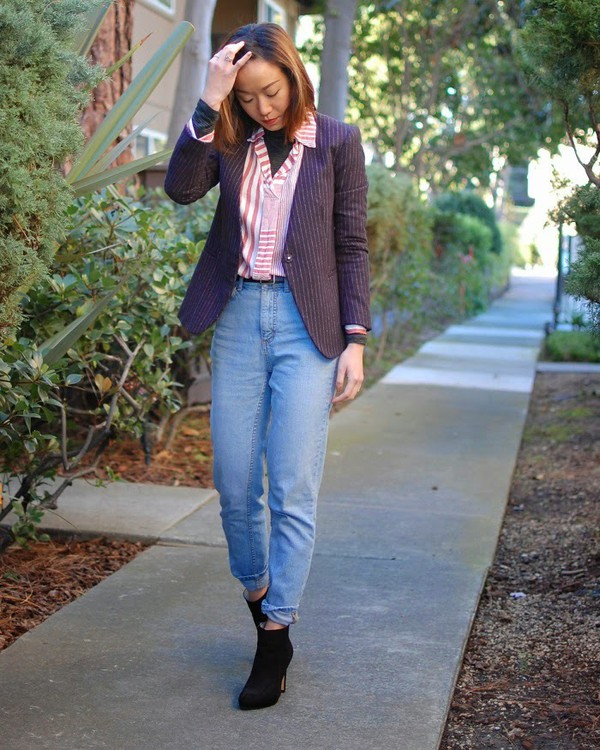 Monkeyshines blogger mom jeans blazer jacket jeans shoes shirt - Wheretoget