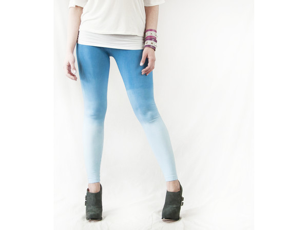 ombre yoga ombre pants ombre leggings yoga pants yoga leggings fashion pants bright blue azure blue blue pants pants shoes