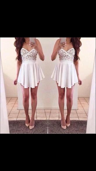 dress white dress cute dress