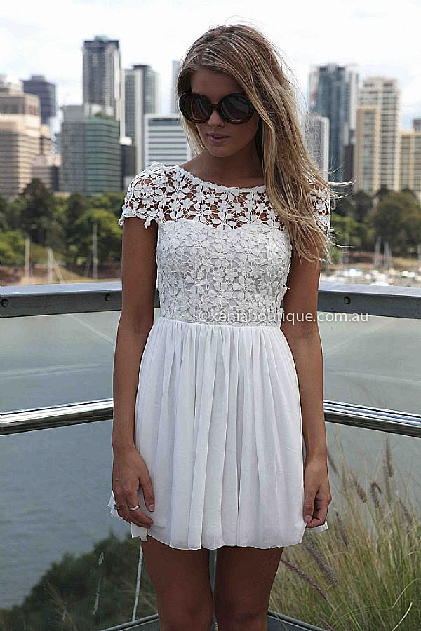 SPLENDED ANGEL DRESS  , DRESSES, TOPS, BOTTOMS, JACKETS & JUMPERS, ACCESSORIES, 50% OFF END OF YEAR SALE, PRE ORDER, NEW ARRIVALS, PLAYSUIT, COLOUR, GIFT VOUCHER,,White,LACE,SHORT SLEEVE,MINI Australia, Queensland, Brisbane