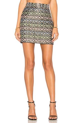 skirt mini skirt mini chevron black