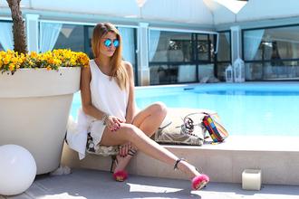 chiara nasti blogger bag charlotte olympia sandal heels valentino pink shoes