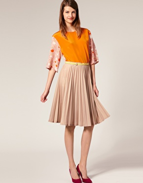 Walker | Karen Walker Pleated Skirt at ASOS