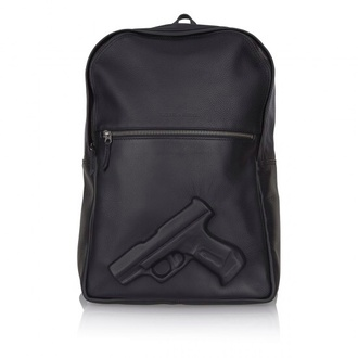 bag gun black backpack leather backpack unisex 3d rucksack