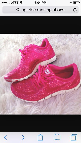 shoes nike pink sparkle running shoes