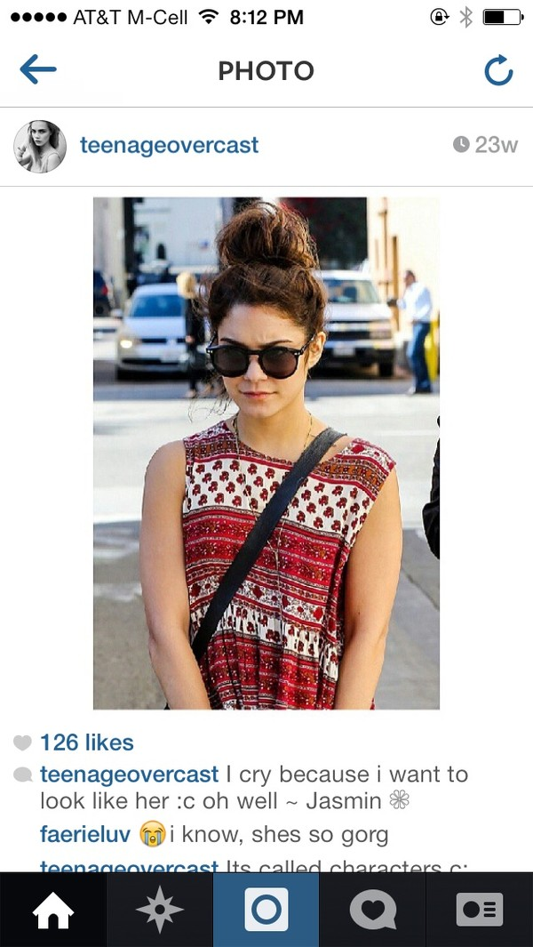 tank top vanessa hudgens pretty boho cute tribal pattern indian indie sunglasses