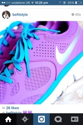 shoes,purple blue nike