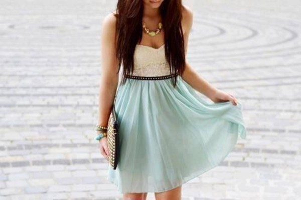dress prom dress cute dress pretty swag hipster lovely aqua