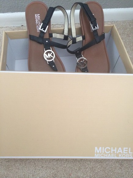 shoes michael kors leather sandals