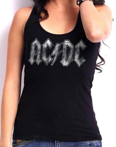 Ac/dc girls tank top