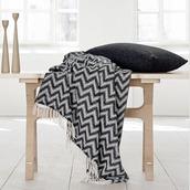 home accessory,blanket,chevron,optical,black and white