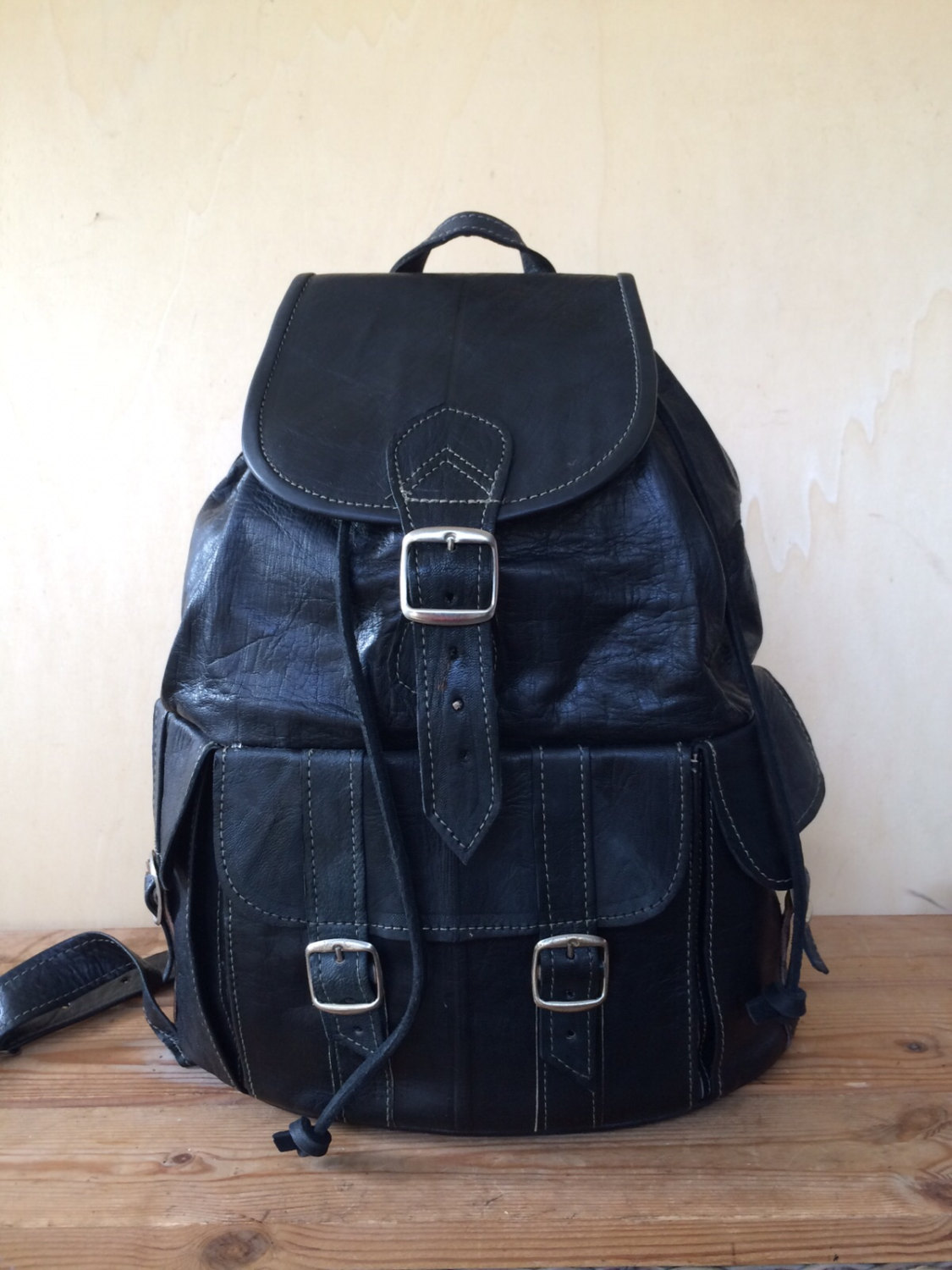 LEATHER BACKPACK - 16 INCHES, leather rucksack, mens backpack, rucksack leather, Hipster Backpack, backpack leather, Leather bag, mochila
