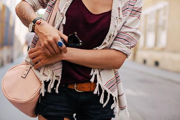 stripes cardigan top