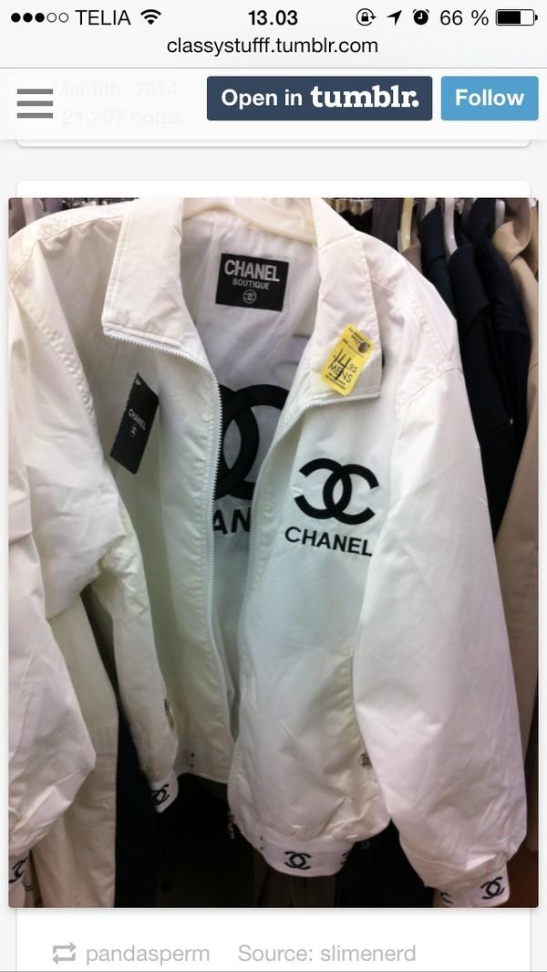 jacket chanel style jacket chanel white black