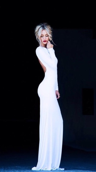 dress formal dress white dress