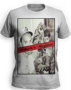 New mens chris brown and rihanna t shirt vintage pic nobody's business s m l xl