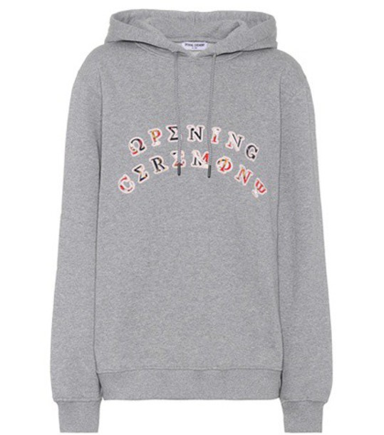 hoodie cotton grey sweater