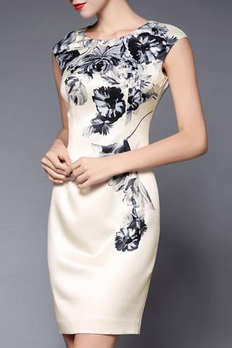 dress dezzal floral fashion trendy sleeveless dress formal dress vintage