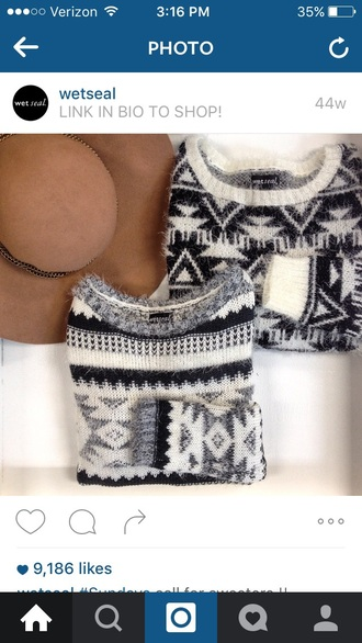 sweater winter sweater grey sweater aztec aztec sweater fuzzy sweater fall sweater