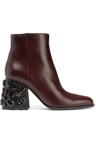 leather ankle boots embellished boots ankle boots leather shoes