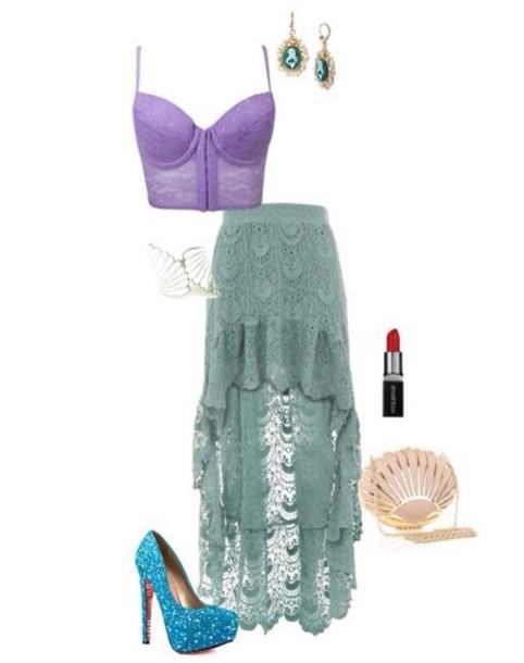 skirt green skirt vintage