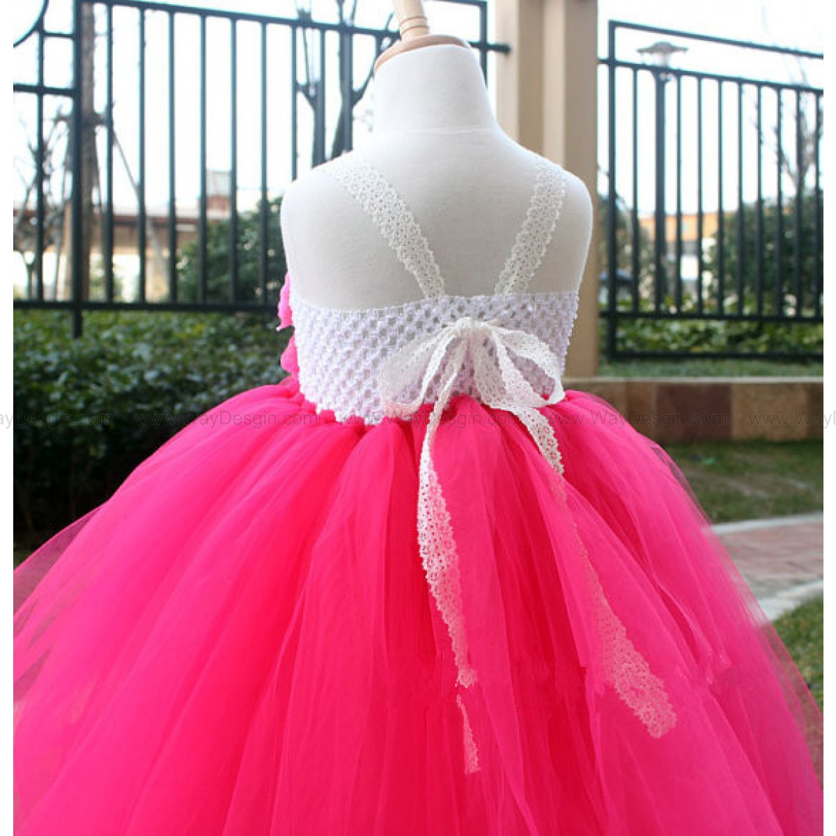 Hot Pink Toddler Flower Girl Dresses 57