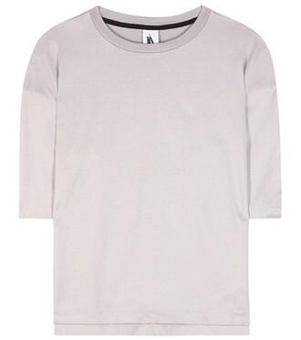 t-shirt shirt cotton t-shirt cotton purple top
