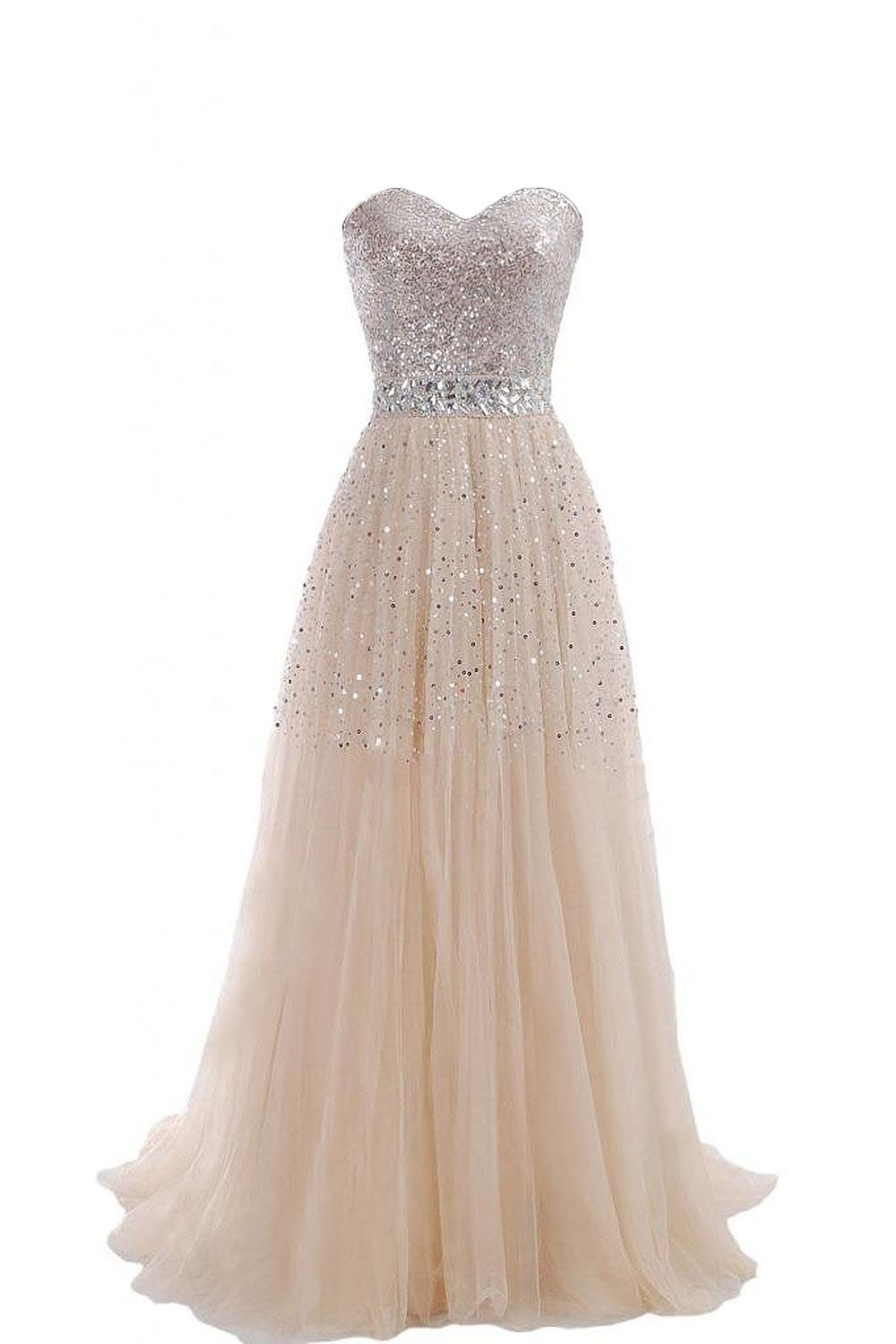 Enjoybuys 2015 Exquisite Sweetheart Tulle Long Prom Dress