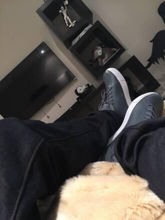 justin bieber sneakers grey