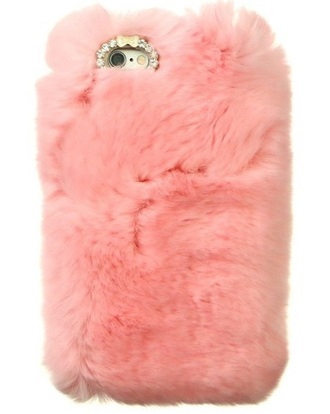 phone cover girly iphone cover iphone case pink fur