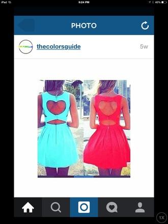 dress heart cut-out dress