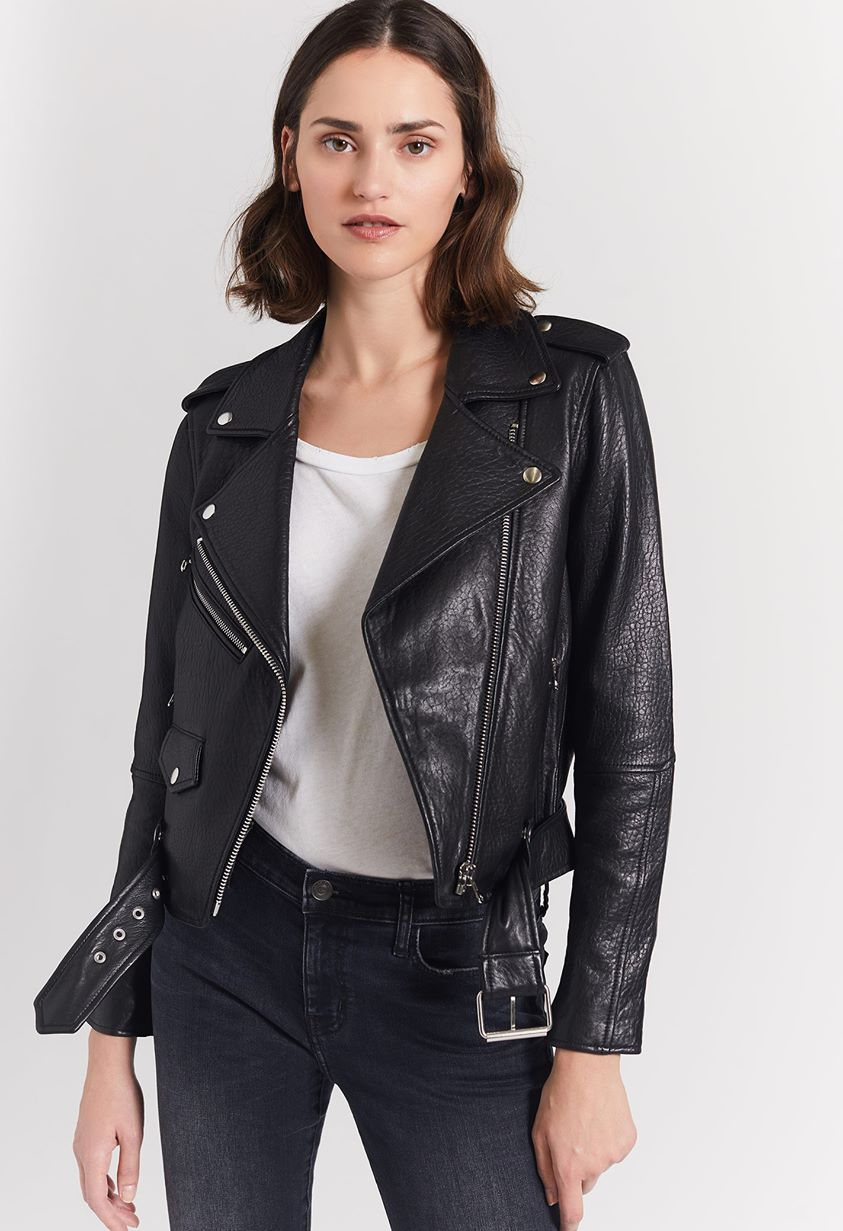 The Shaina Leather Biker Jacket