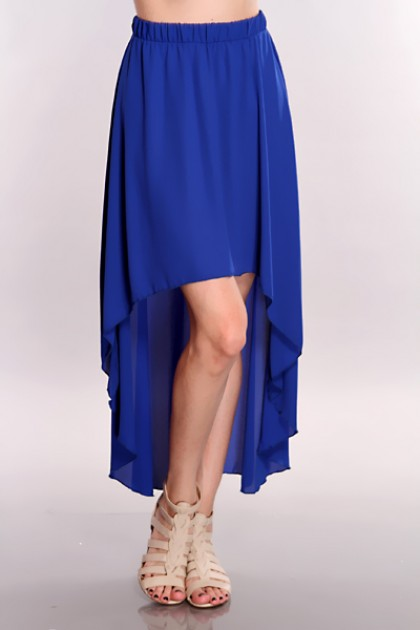 Blue High Low Hem Skirt @ Amiclubwear Clothing Skirts Online Store ...