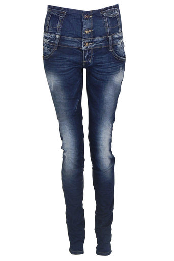 Iris High Waisted Denim Jeans - Pop Couture