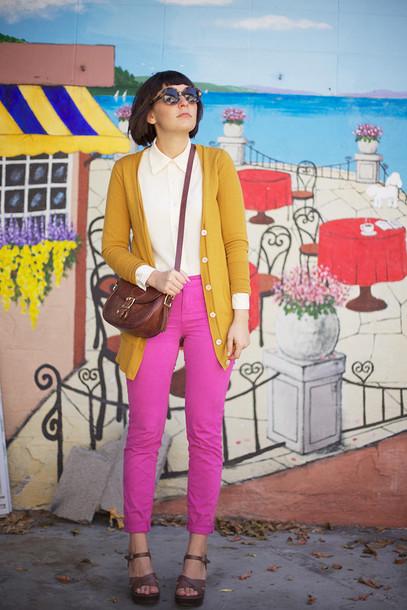 jeans blouse shoes sweater bag sunglasses