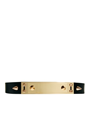 ASOS | ASOS Double Plate And Spike Detail Waist Belt at ASOS