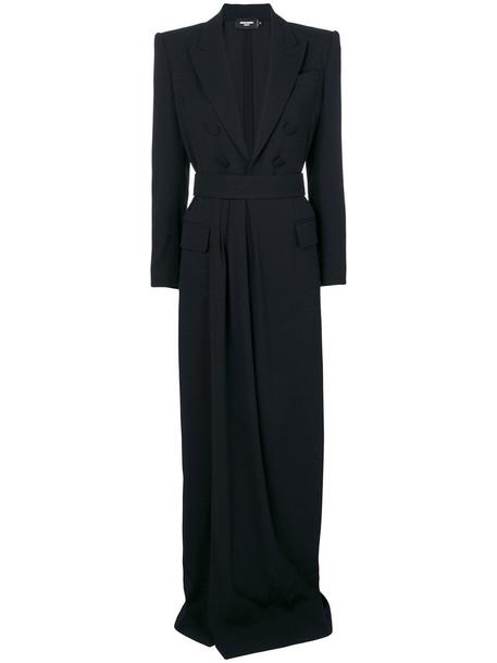 Dsquared2 dress long dress long women blue wool