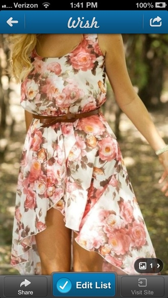 dress high-low dresses floral cute dress