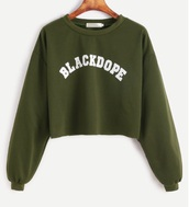 sweater,green,blackd,crop,cropped,cropped sweater