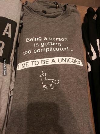 shirt grey unicorn t-shirt. grey cool kawaii unicorn unicorn tee cool shirts unicorn shirt t-shirt