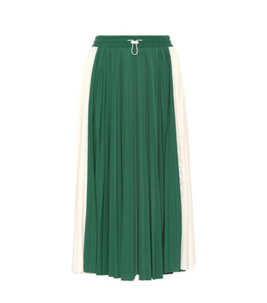 Valentino skirt midi skirt pleated midi green