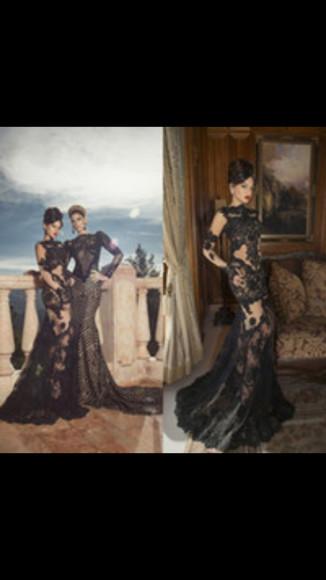 formal dress lace dress mermaid dress
