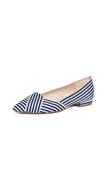 flats navy white shoes