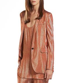 Iridescent rust liquid deconstructed jacket
