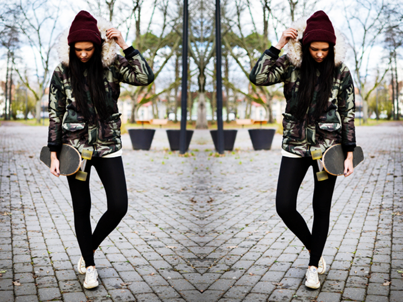 Camo Parka With Oversized Fur Trim Hood | Choies