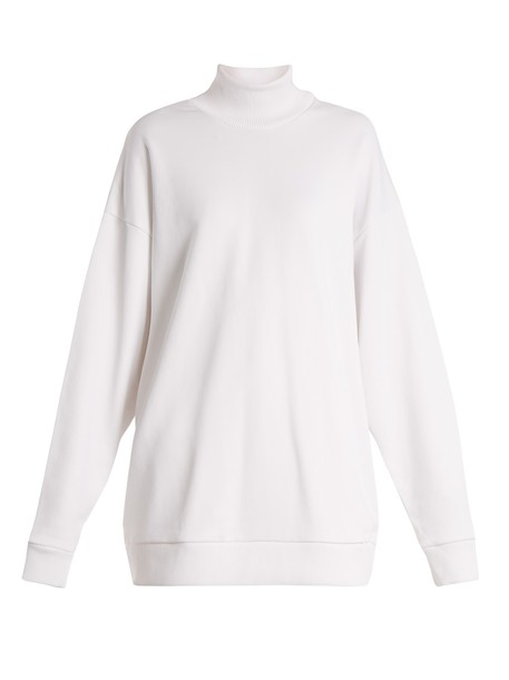 MARQUES ALMEIDA sweatshirt oversized high white sweater