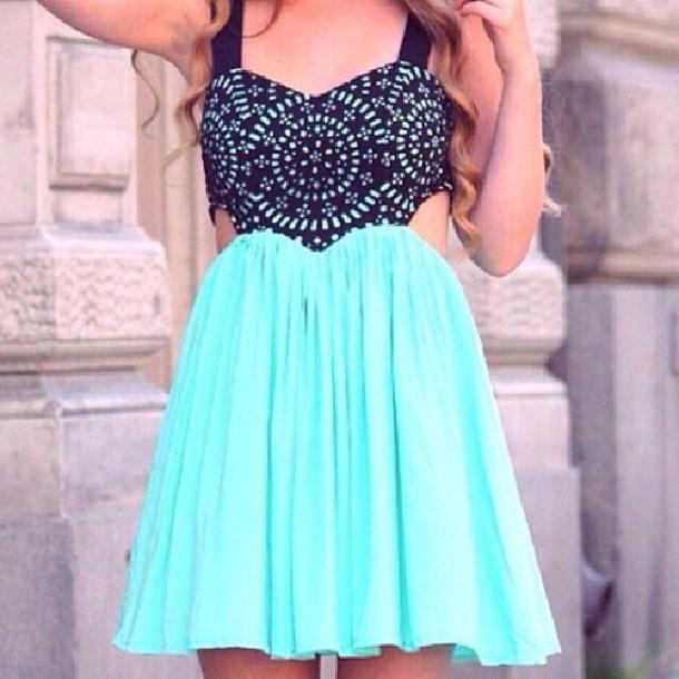 dress short dress blue dress black dress with straps