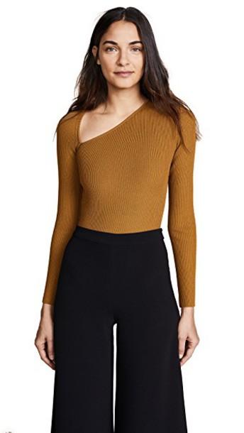 cushnie et ochs bodysuit long asymmetrical underwear
