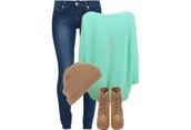 sweater,blue knitted sweater,jumper,blue,blue jumper,blue studded jumber,turqoise jumper,blouse,shirt,mint green shirt,long sleeves,weheartit,shoes,hat