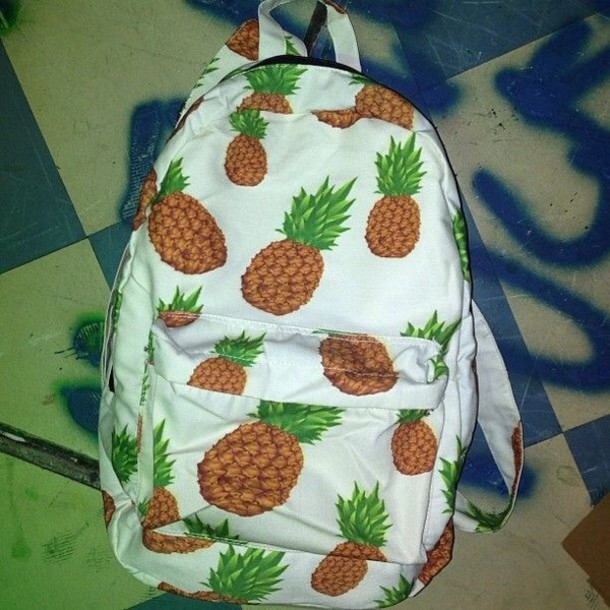 bag pineapple pineapple pattern spring summer back to school backpack indie